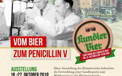 """Einladung zur Ausstellung """"Vom Bier zum Penicillin V"""""""